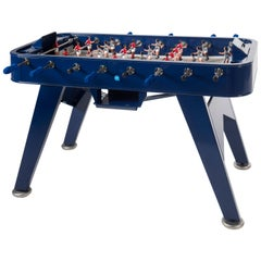 RS-Barcelona RS2 Football Table in Blue Stainless Steel by Rafael Rodríguez