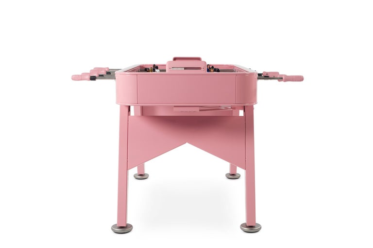 Modern RS-Barcelona RS2 Football Table in Pink Stainless Steel by Rafael Rodríguez For Sale