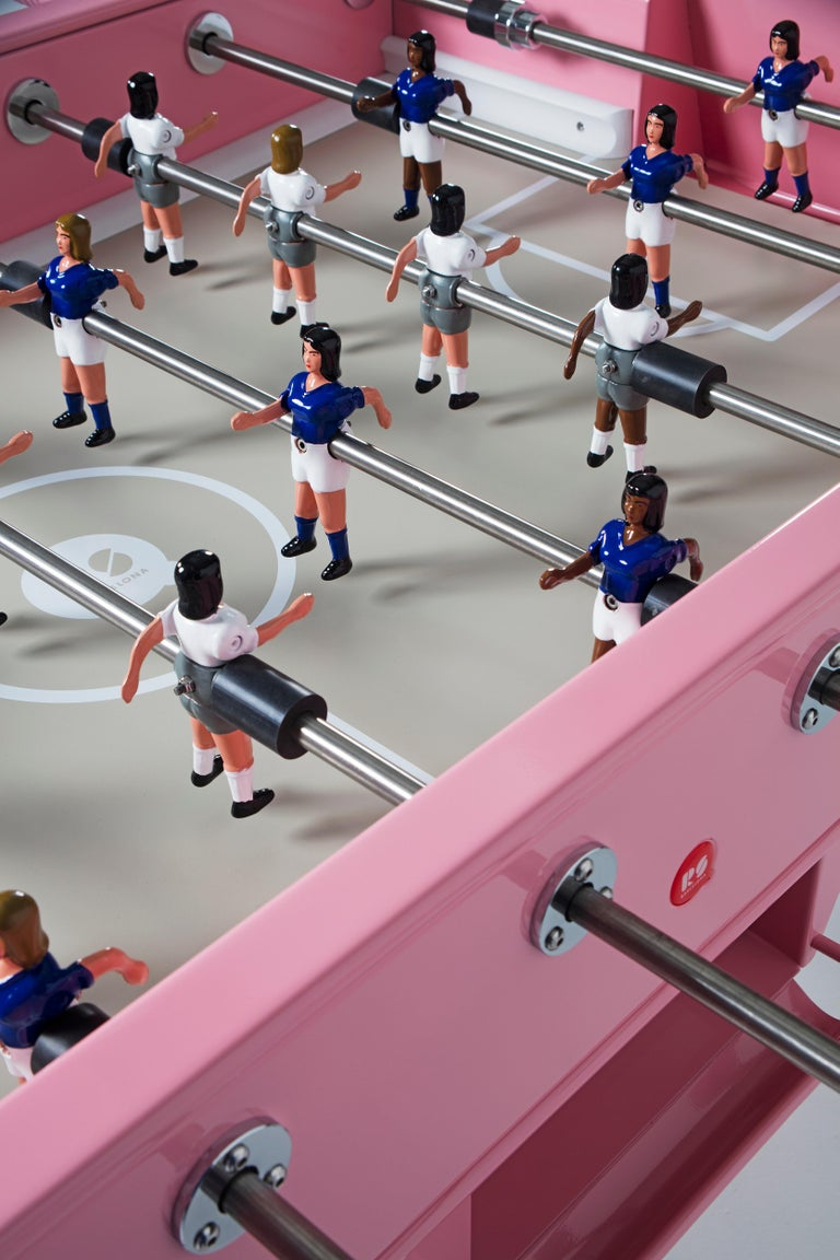 Spanish RS-Barcelona RS2 Football Table in Pink Stainless Steel by Rafael Rodríguez For Sale
