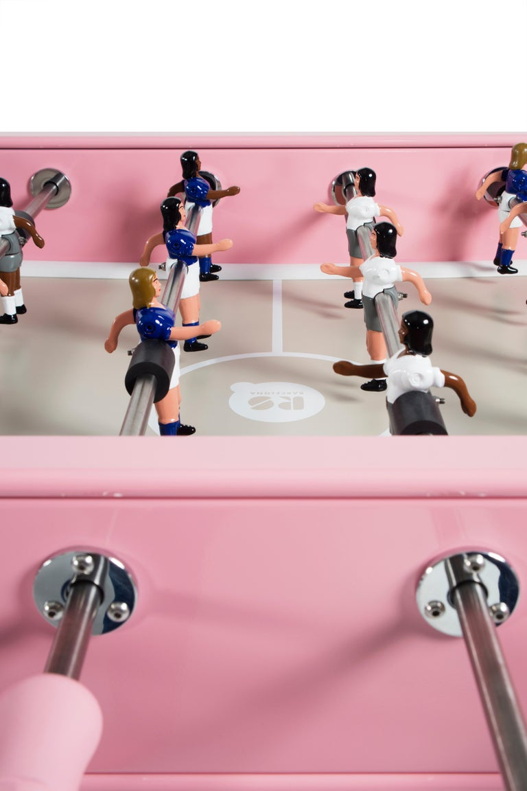 RS-Barcelona RS2 Football Table in Pink Stainless Steel by Rafael Rodríguez For Sale 1