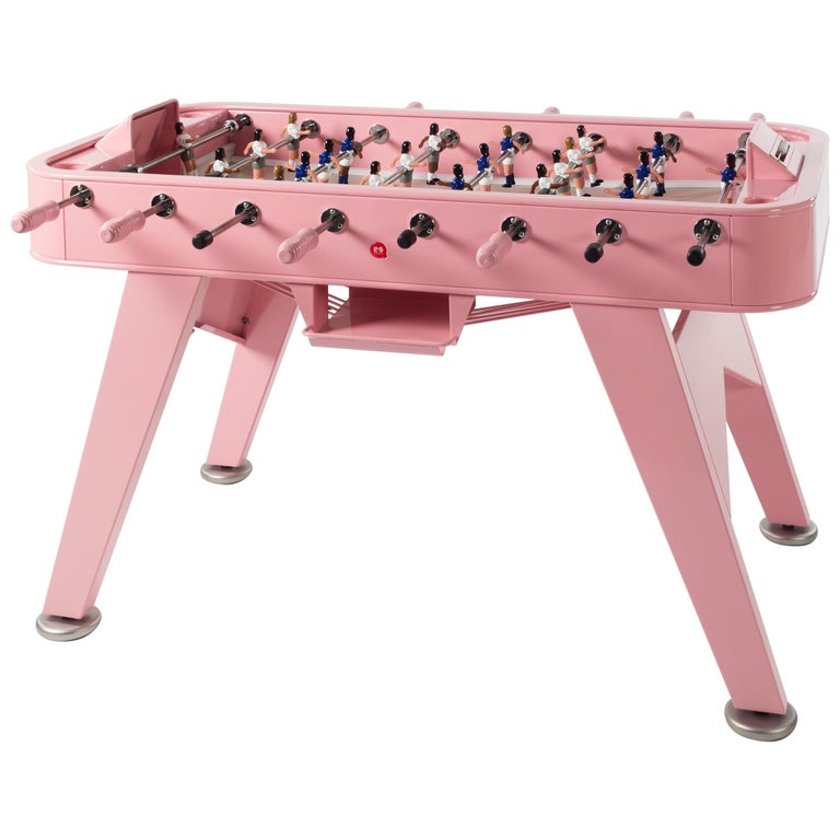 RS-Barcelona RS2 Football Table in Pink Stainless Steel by Rafael Rodríguez For Sale