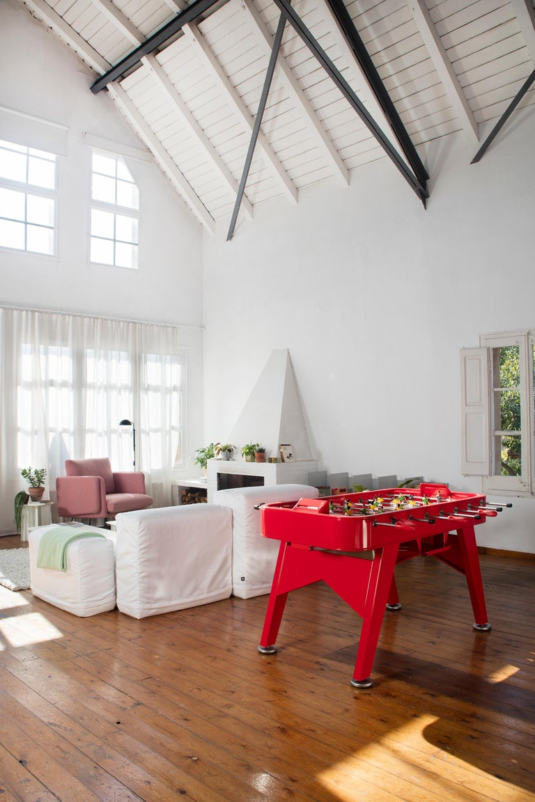 Spanish RS-Barcelona RS2 Football Table in Red Iron by Rafael Rodríguez For Sale