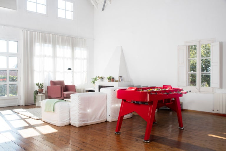RS-Barcelona RS2 Football Table in Red Iron by Rafael Rodríguez In New Condition For Sale In Edison, NJ