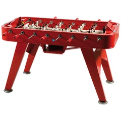 RS-Barcelona RS2 Football Table in Red Stainless Steel by Rafael Rodríguez