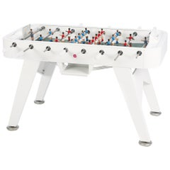 RS-Barcelona RS2 Football Table in White Stainless Steel by Rafael Rodríguez