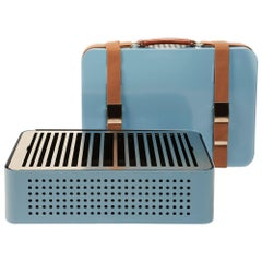 RS-Barcelona Set of Four Mon Oncle Barbecue in Blue by Mermelada Estudio