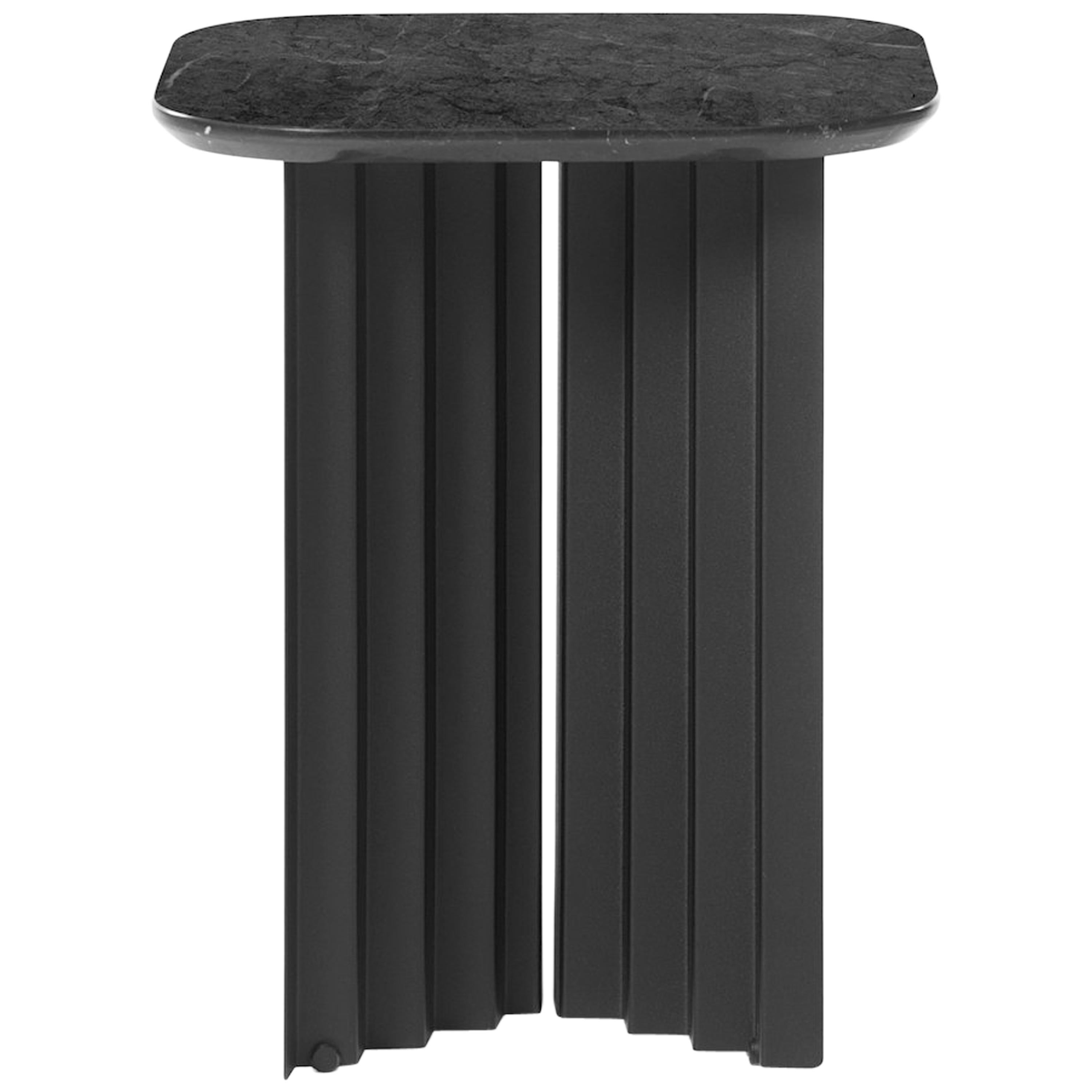RS Barcelona Plec Small Table in Black Marble by A.P.O.