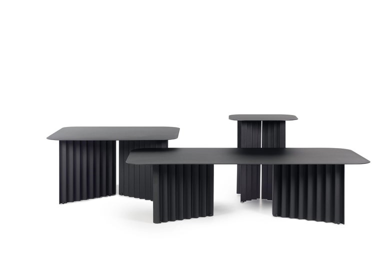 Modern RS Barcelona Plec Small Table in Black Metal by A.P.O. For Sale