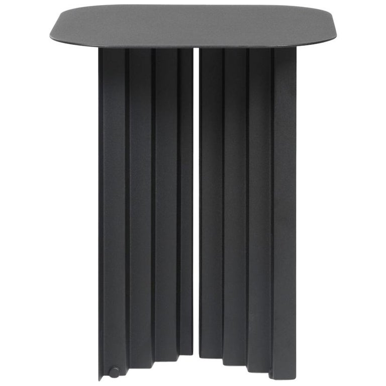 RS Barcelona Plec Small Table in Black Metal by A.P.O. For Sale