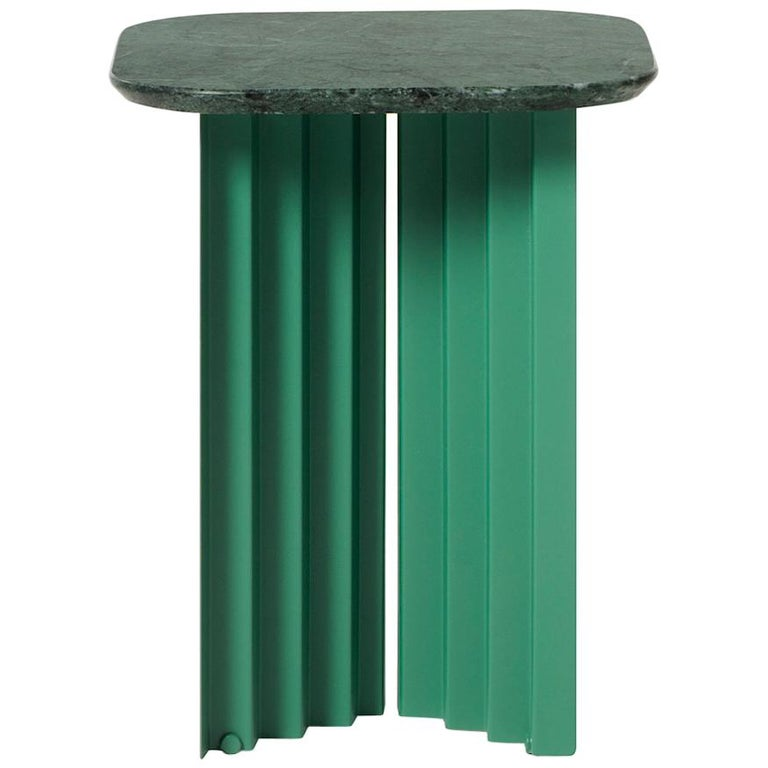 RS Barcelona Plec Small Table in Green Marble by A.P.O. For Sale
