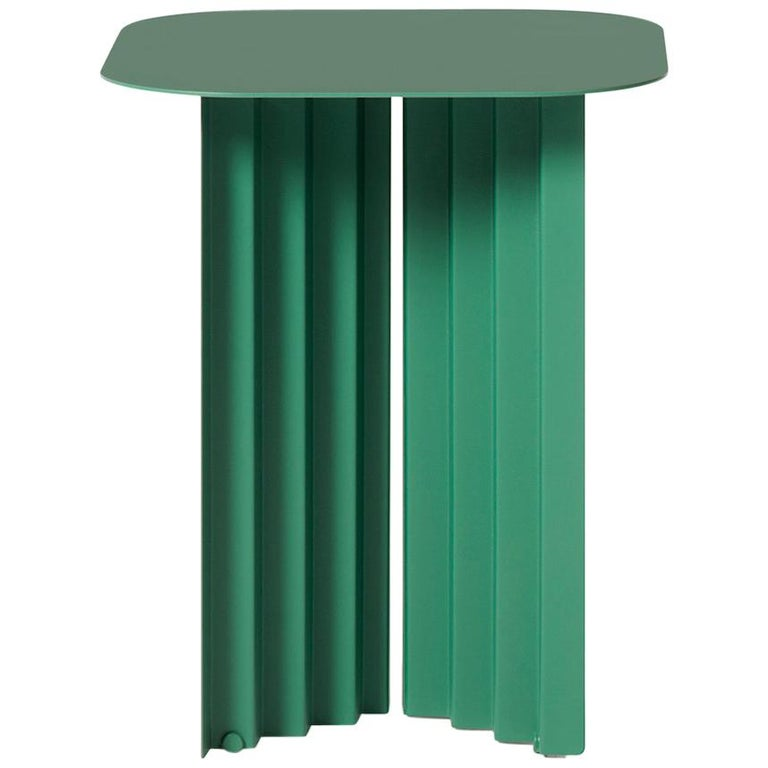 RS Barcelona Plec Small Table in Green Metal by A.P.O. For Sale