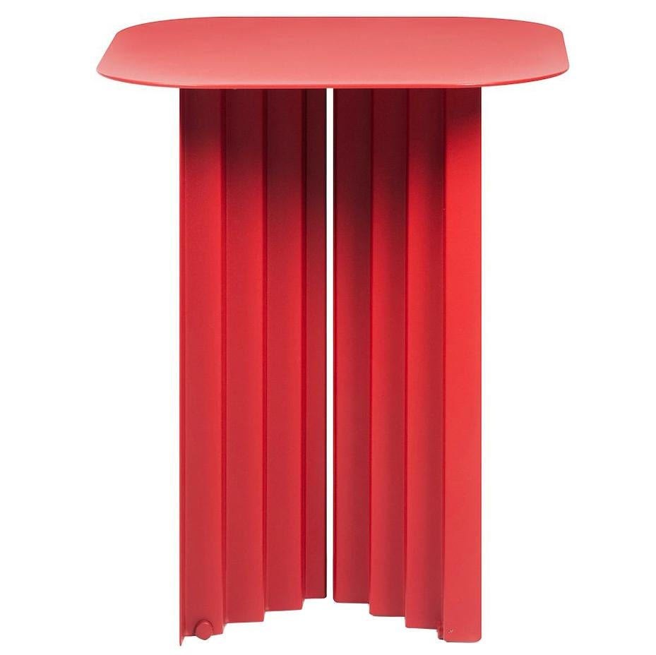 RS Barcelona Plec Small Table in Red Metal by A.P.O.