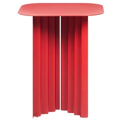 RS-Barcelona Small Plec Table in Red Metal by A.P.O.