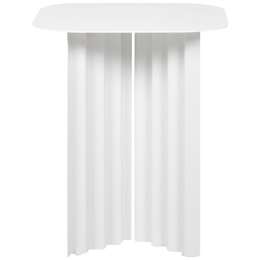 RS Barcelona Plec Small Table in White Metal by A.P.O.