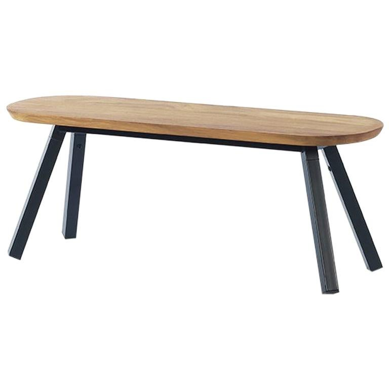 RS Barcelona You and Me 120 Bench in Oak with Black Legs by A.P.O.