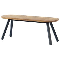 RS-Barcelona Small You and Me Bench in Oak with Black Legs by A.P.O.