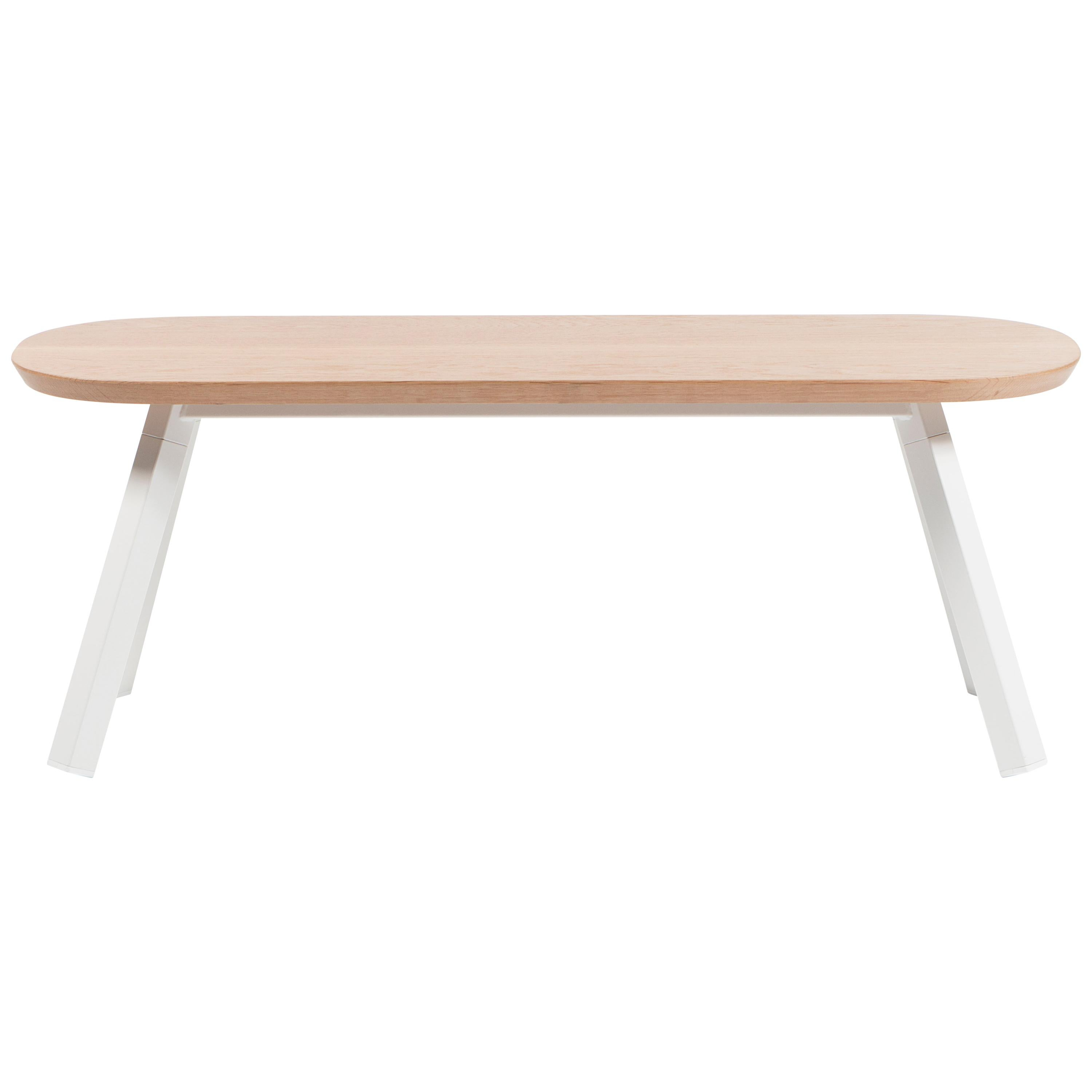 RS Barcelona You and Me 120 Bench in Oak with White Legs by A.P.O.