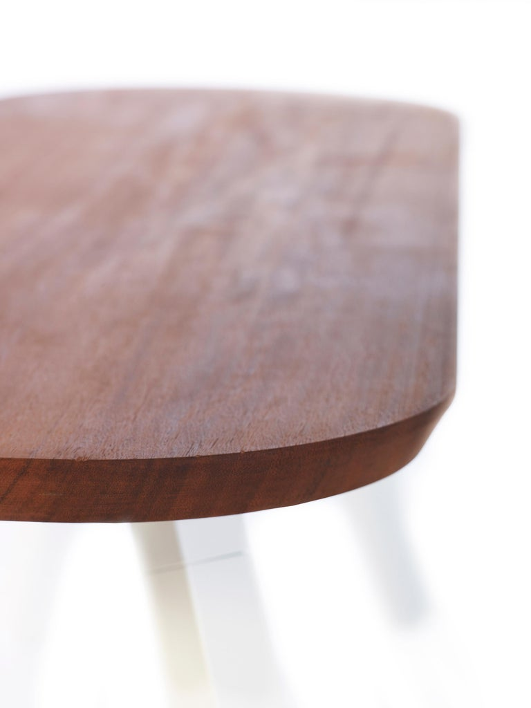 Spanish RS-Barcelona You and Me 120 Bench in Iroko and White by A.P.O. For Sale
