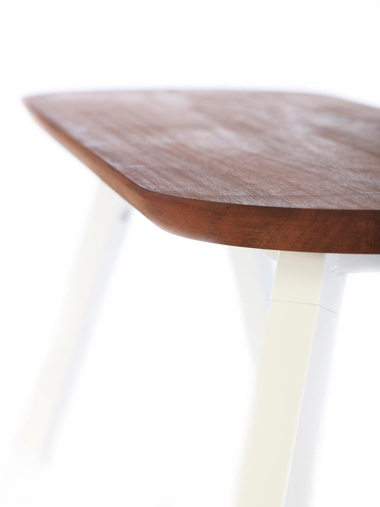Contemporary RS-Barcelona You and Me 120 Bench in Iroko and White by A.P.O. For Sale