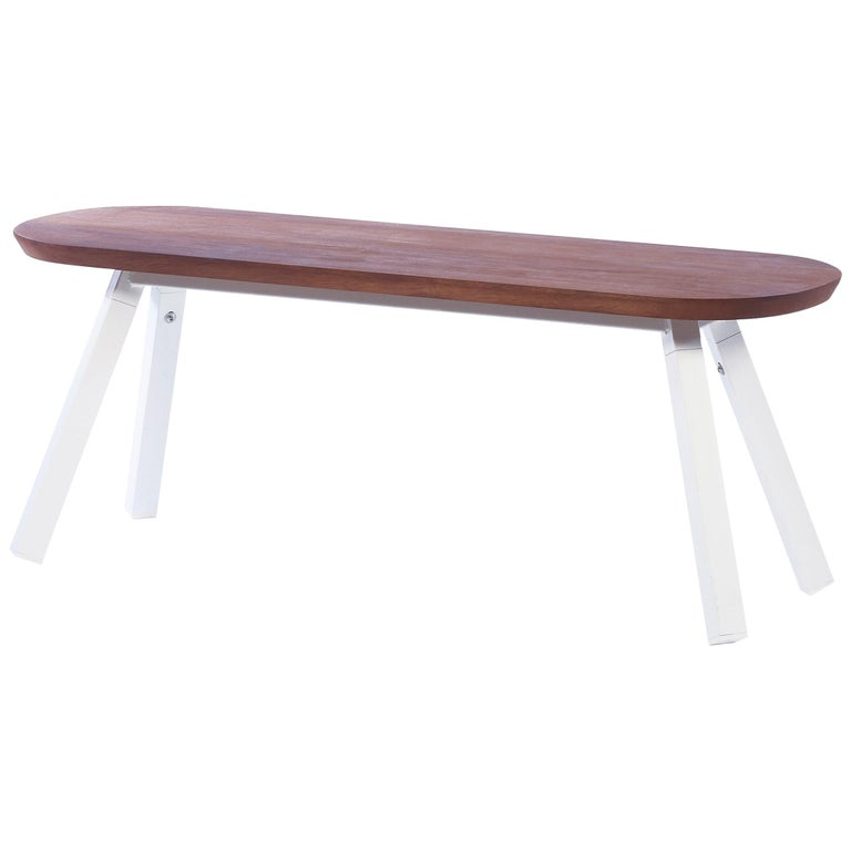 RS-Barcelona You and Me 120 Bench in Iroko and White by A.P.O. For Sale