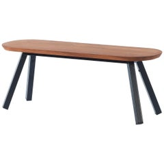 RS-Barcelona Small You & Me Bench in Walnut with Black Legs by A.P.O.