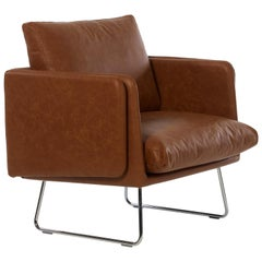 RS-Barcelona Spongy Armchair in Leather Brown by Stone Designs
