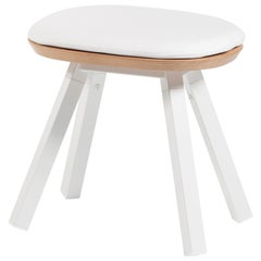 RS-Barcelona You and Me Stool in Oak and White with White Cushion by A.P.O.