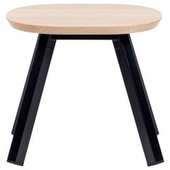 RS Barcelona You & Me Stool in Oak and Black by A.P.O.