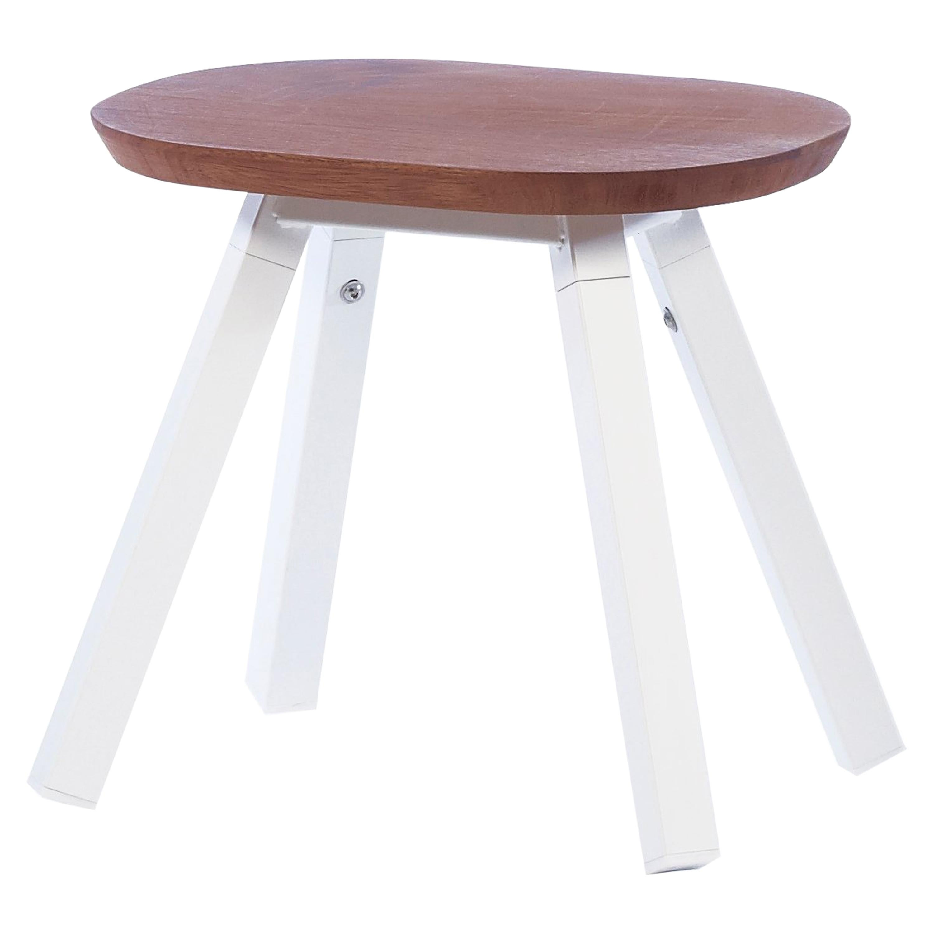 RS Barcelona You & Me Stool in Iroko and White by A.P.O.