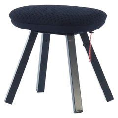 RS-Barcelona You & Me Stool in Walnut & Black with Black Cushion & Cover, A.P.O
