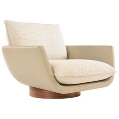 Rua Ipanema Lounge Chair by Yabu Pushelberg in Leather and Fabric