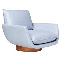 Rua Ipanema Lounge Chair by Yabu Pushelberg in Winchester Street Linen Blend