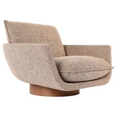Rua Ipanema Lounge Chair in Sumach Street Earth Fabric