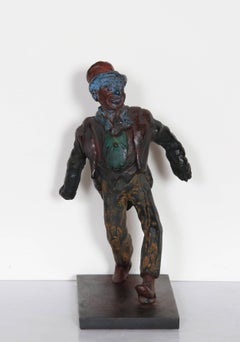 Clown, Bronze Sculpture by Rube Goldberg