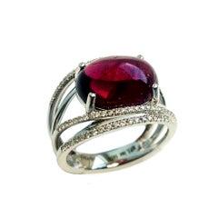 Rubellit und Diamant Ring MF-783