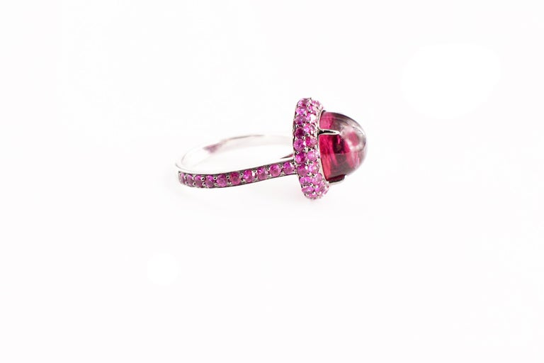 Rubellite and Pink Sapphire Jilly Ring In New Condition For Sale In Great Neck, NY