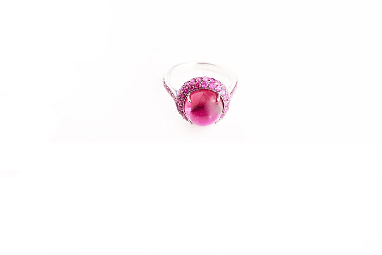Women's Rubellite and Pink Sapphire Jilly Ring For Sale