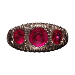 Rubellite Ring for Men from Victorian Era