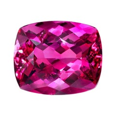 Rubellite Tourmaline Cushion Cut 8.86 Carat