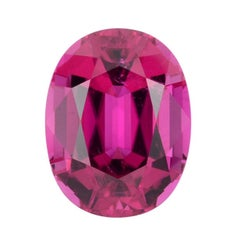 Rubellite Tourmaline Ring Gem 10.49 Carat Oval Loose Gemstone