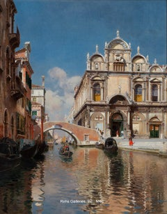 Scuola Grande di San Marco and the Ponte Cavallo on the Rio dei Mendicanti, Veni