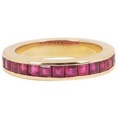 Rubies 18 Carat Yellow Gold Band Ring