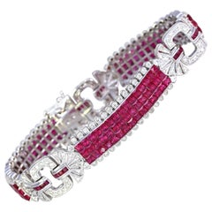 Rubies Diamonds Bracelet Invisible Set, 2000