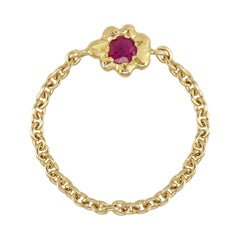 Ruby 18 Karat Yellow Gold Ring