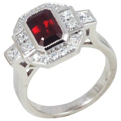 GIA Certified Ruby 2.07 cts and Diamond 0.92 ct Ring in Platinum 950