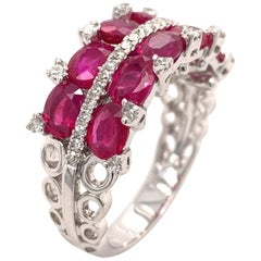 Ruby 3.5 Carat Diamond Ring