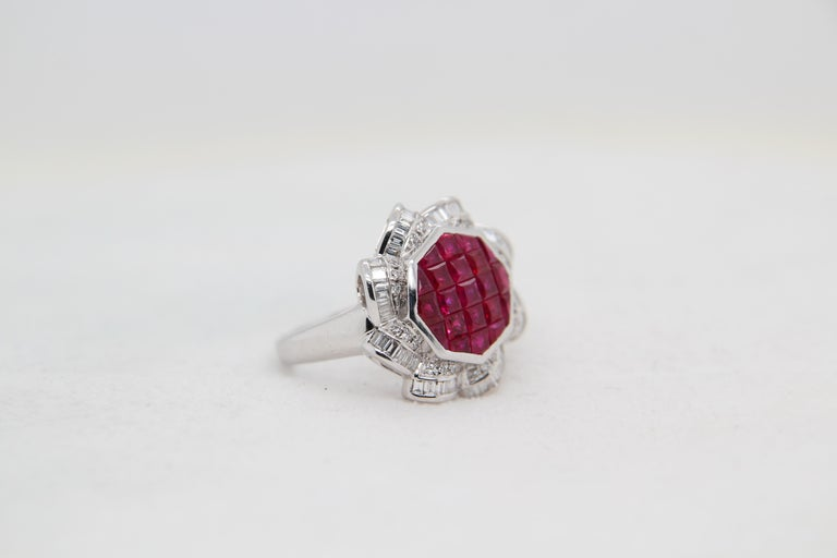 Ruby and Diamond 18 Karat Gold Ring For Sale 1