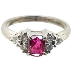 Ruby and Diamond Art Deco Ring
