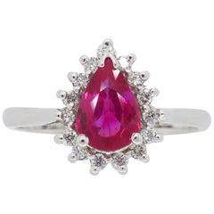 Ruby and Diamond Ballerina Ring