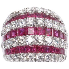 Ruby and Diamond Bombé Ring